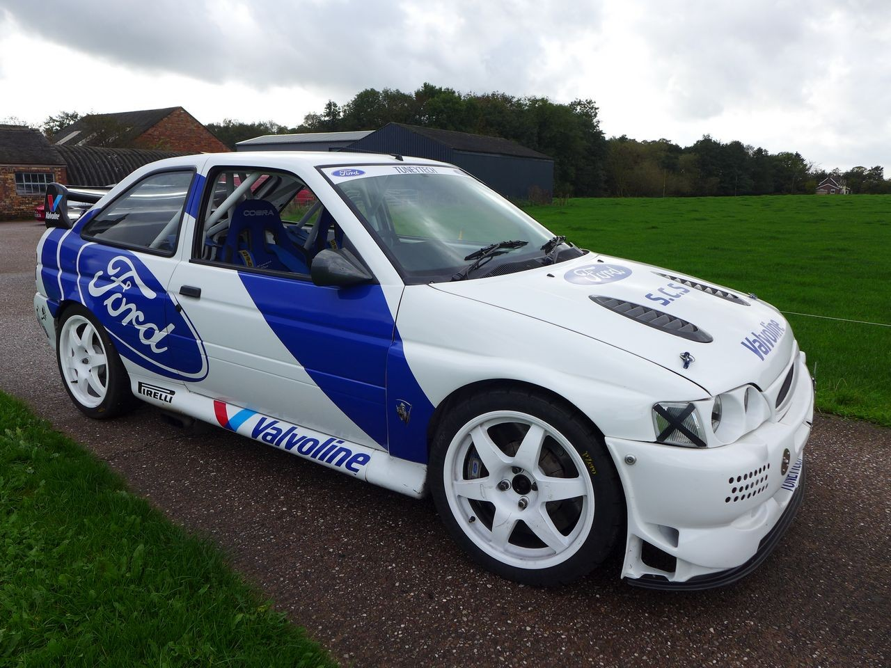 Colorful Ford Escort Cosworth Rally Car Embellishment - Classic Cars ...